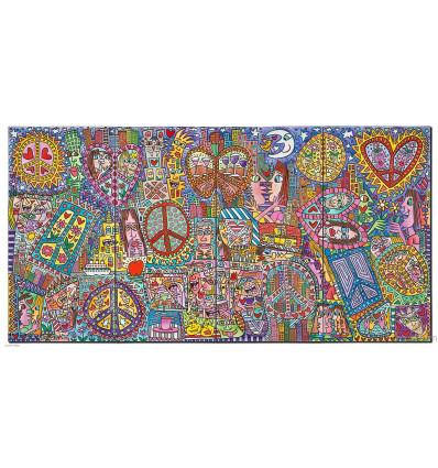 Give peace a chance I-IV / Pigmentdruck auf Leinwand