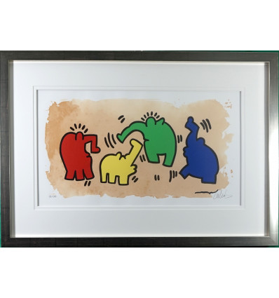 Hommage an Keith Haring / Galerierahmung