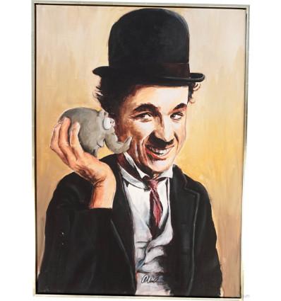 Otto Waalkes / Charly Chaplin/ Giclée auf Leinwand  handsigniert