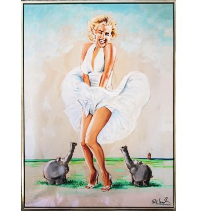 Otto Waalkes / Leinwand Ostfriesischer Fön - Marilyn Monroe/ Gerahmt