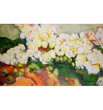 Alexej Tretjakow - Blumen mit Äpfel- sehr groß