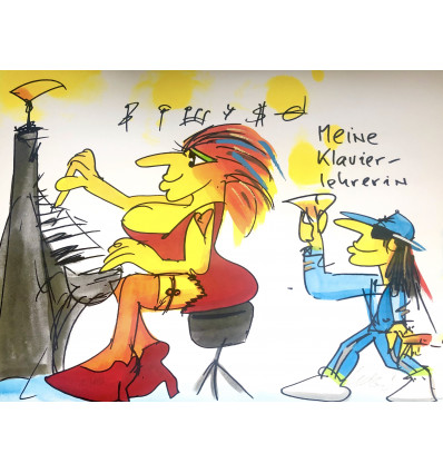 Udo Lindenberg / Meine Klavierlehrerin / handsigniert / NEU