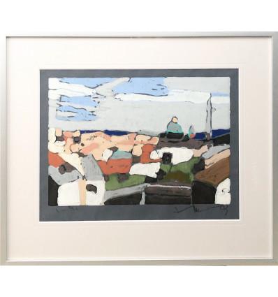 Klaus Fußmann / Farblinolschnitt / Berlin