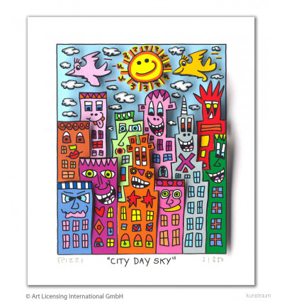 James Rizzi - City Day Sky